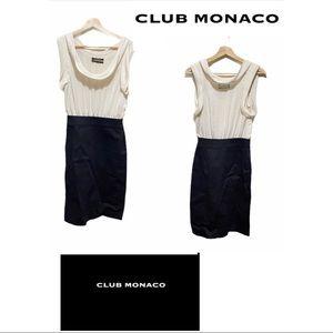 Club Monaco Cowl Neck Sleeveless Midi Dress